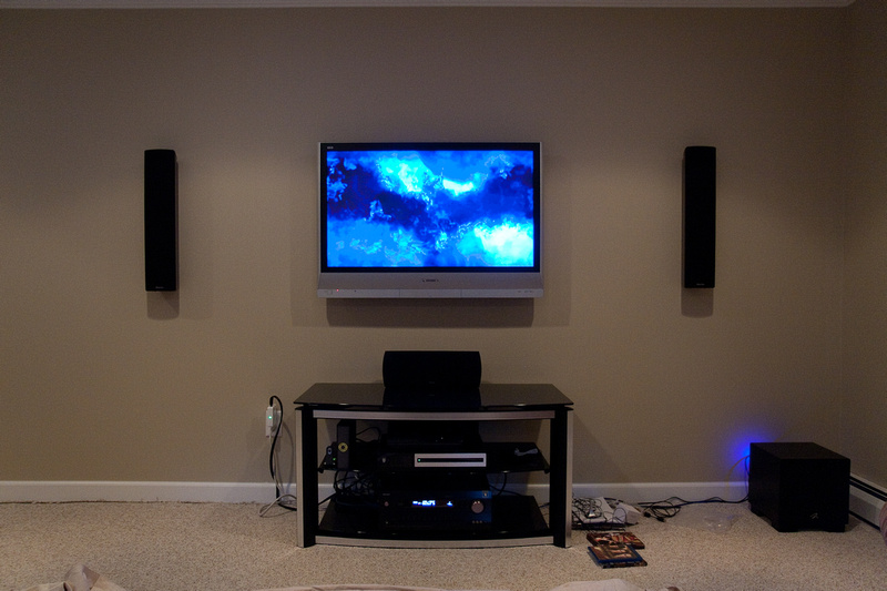 Pic Request Speakers Mounted On Wall Next To Plasma Lcd